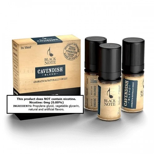 Black Note Cavendish 30ml (10ml x 3) (Formerly: Sonata) (JAPAN Domestic Shipping)