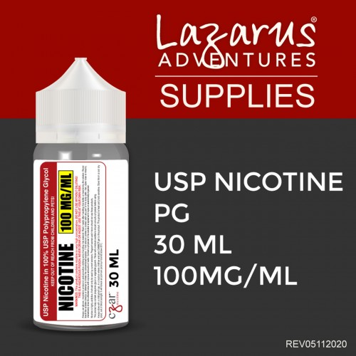 Flavorless Nictoine Liquid,  Czar Nicotine USP Nicotine 100mg/ml - 30ml bottle
