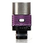 510 Wide-Bore 14mm Adjustable Airflow Drip Tip - Delrin Fitting, Aluminum, Stainless Steel Mouth Piece