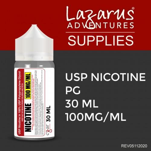 Flavorless Nictoine Liquid,  Czar Nicotine USP Nicotine 100mg/ml - 30ml bottle