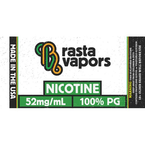 Rasta Vapors 100% PG Flavorless Nicotine Liquid 52mg 60ml