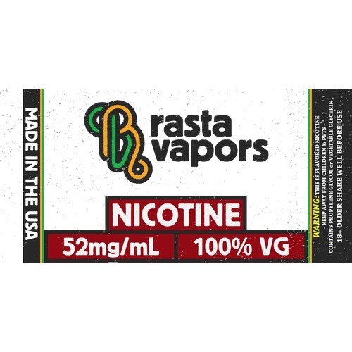 Rasta Vapors 100% VG Flavorless Nicotine Liquid 52mg 60ml
