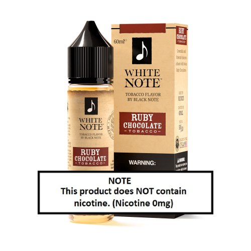 White Note Ruby Chocolate Tobacco 60ml (JAPAN Domestic Shipping)