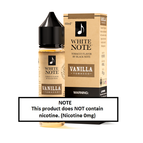 White Note Vanilla Tobacco 60ml (JAPAN Domestic Shipping)